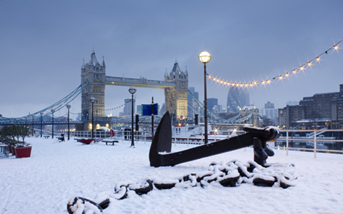 Snowy Tower Bridge
